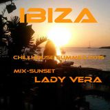 Lady Vera Summer in Ibiza sunset 2015,,,,Chillhouse