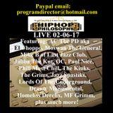 HipHopPhilosophy.com Radio - LIVE - 02-06-17