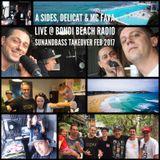 A Sides, Delicat & MC Fava Live On Bondi Beach Radio - Feb 2017