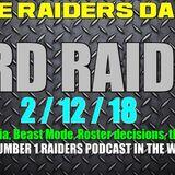 TRD RAIDio 2/12/18: Raiders Latest News