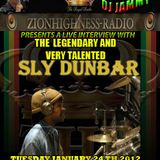 THE LEGENDARY SLY DUNBAR INTERVIEW WITH DJ JAMMY ON ZIONHIGHNESS RADIO ON 01-24-12