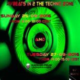 RVBEATS In 2 The Techno Zone CuebaseFM Episode Sunday 25 & Tuesday 27-09-2016