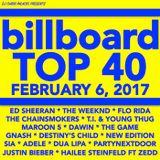 BILLBOARD TOP 40 (*clean* 2-6-17*)