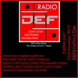 Doncaster Electronic Foundation Radio 23rd November 2015 - The artists of D.E.F.