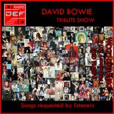 D.E.F. Radio 11th January 2016 - David Bowie Tribute Show