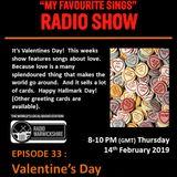 My Favourite Sings - Episode 33 - Valentine's Day - Radio Warwickshire - 14th February 2019