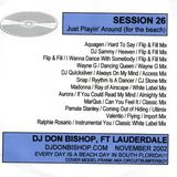 Session 26-Songs For The Beach-DJ Don Bishop 11/2002