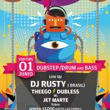 Dj Rusty live @ REWIND (CHILE) feat. Mc Jet Marte - 01.06.2012