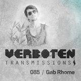 Gab Rhome Verboten Transmissions 85