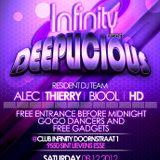 """Dj Thierry live """"DEEPLICIOUS"""" @ Club Infinity 08.12.12"""