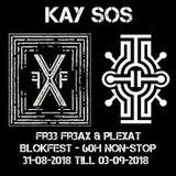 Kay Sos @ Fr33 Fr3aX & Plexat - Blokfest 2018 - 60H non-stop raving