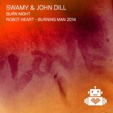 Swamy and John Dill - Burn Night - Robot Heart - Burning Man 2014