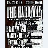 Brainwash live @ THE HARD WAY (22 febr 2013 Pand14,Amsterdam)