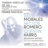 David Morales - Live @ Tribute To Frankie Knuckles, Basement Club, Miami (26-03-2015)