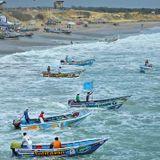 Amanecer Pesquero Alexandra  Valle Pesca artesanal en Engabao Ecuador