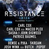Carl Cox b2b Maceo Plex - Live @ Resistance Ibiza, Closing Party - 11-09-2018