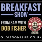 DJ Bob Fisher Lockdown Breakfast Show continues on oldies radio 13th / 05/  2020
