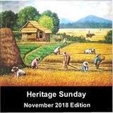 Heritage Sunday - November 2018 (Regional) Edition
