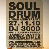 SoulDrum //  James Watts // SoulDrum 1 year anniversary // 27/11/2010