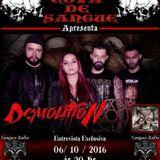Programa Cova de Sangue - Cangaço Rádio Rock - #19 - Entrevista com a Banda Demolition  (06.10.2016)
