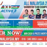 100Plus  ALL MALAYSIA Badminton Team Championship 2017 with Wong Choon Hann on AFO LIVE
