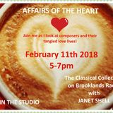 AFFAIRS OF THE HEART hosted by JANET SHELL (11th February 2018)
