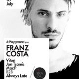 Franz Costa - Playground 09.07.16 Live At Terraza Athens (GR)