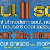 Paul Phillips LIVE!! @ Soul II Sole - Saturday 12 May 2018
