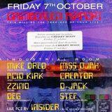 """D-Jack & Acid Kirk at """"Flight 303"""" @ Cherry Moon (Lokeren - Belgium) - 7 October 1994"""