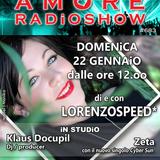 LORENZOSPEED presents AMORE Radio Show 683 Domenica 22 Gennaio 2017 with KLAUS DOCUPiL and ZETA