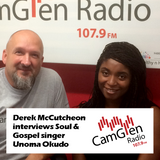 Derek McCutcheon interviews soul/gospel singer Unoma Okudo, 18 Jul 2017
