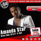 #DriveTime with @MsAmandaStar - Special guest @BobbyV 23.03.2017