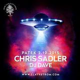 Chris Sadler live mix in MC Zlatý Strom 2.10.2015