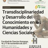 """Ponencias Simposium """"Transdisciplinariedad y Desarrollo del Conocimiento en las Humanidades y Cienci"""