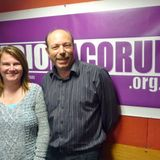 Dacorum Food Bank's Sharon Boyall and the inspirational Andy Ricketts with Sarah Lowther (26/10/14)