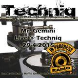 Mr Gemini Live at Techniq 29-4-15
