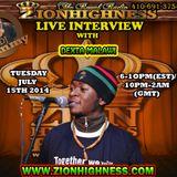 DEXTA MALAWI'S LIVE INTERVIEW WITH DJ JAMMY ON ZIONHIGHNESS RADIO 071514