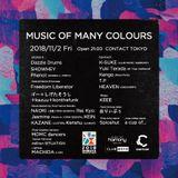 DJ K-SUKE 2018 11.2 MUSIC OF MANY COLOURS @CONTACT TOKYO