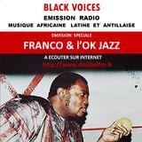 Emission de BLACK VOICES spéciale  FRANCO & le TP OK JAZZ sur radio Décibel 11/2015