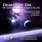 Deiman de Dis - My Universe Vocal Trance vol.52 (EDM Radio) [11.12.2015]
