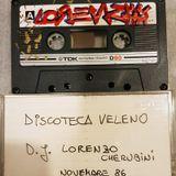 DJ Lorenzo Cherubini aka Jovanotti - Discoteca Veleno (Roma Novembre 1986)