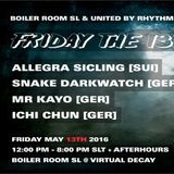 BOILER ROOM SL + United by Rhythm Collaboration friday may 13th part2  - Allegra Sicling