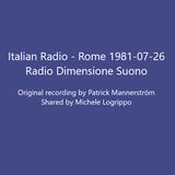 Italian Radio - Rome 810726 - Radio Dimensione Suono