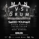 Saeed Younan Live at Analog Brooklyn NY - Man vs Drum Jan 2018