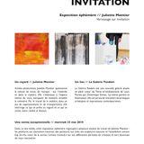 Vernissage Juliette Montier, Galerie Tandem, Lyon, 23/05/2018