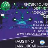 Underground District 031 Special Guest Faustino Larroucau (Argentina)