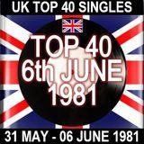 UK TOP 40: 31 MAY - 06 JUNE 1981
