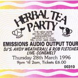 Andrew Weatherall at Herbal Tea Party, Manchester - 28 March 1996 -  Emissions Audio Output Night