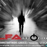 ALFATRONICA ON RADIO ALFA; GUEST MIX: ELIAS KWNSTANTINIDIS, 27.9.2012