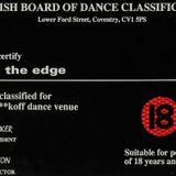 ~Ratty @ The Edge - British Board Of Dance Classification~